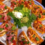 Mahi Mahi and Firecracker Shrimp Nachos