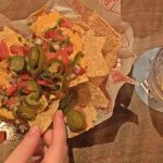"""""""Nachos"""" paired with vodka waters"""