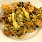 E Learning chicken and black bean Nachos