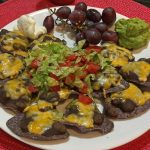 Black Bean and Cheese Nachos on Blue Corn Chips